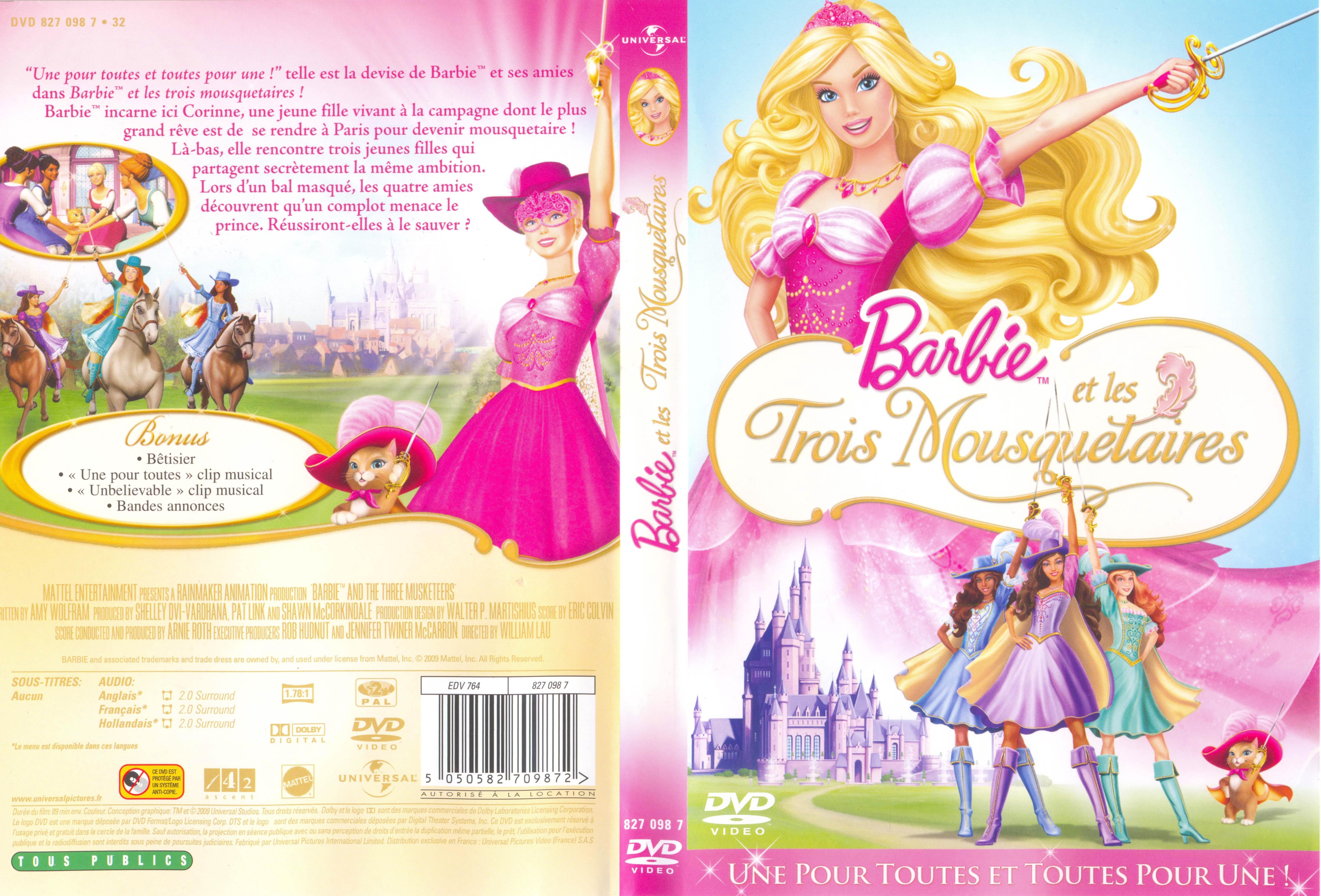 Zone 2 lettre a - Barbie les trois mousquetaires ...