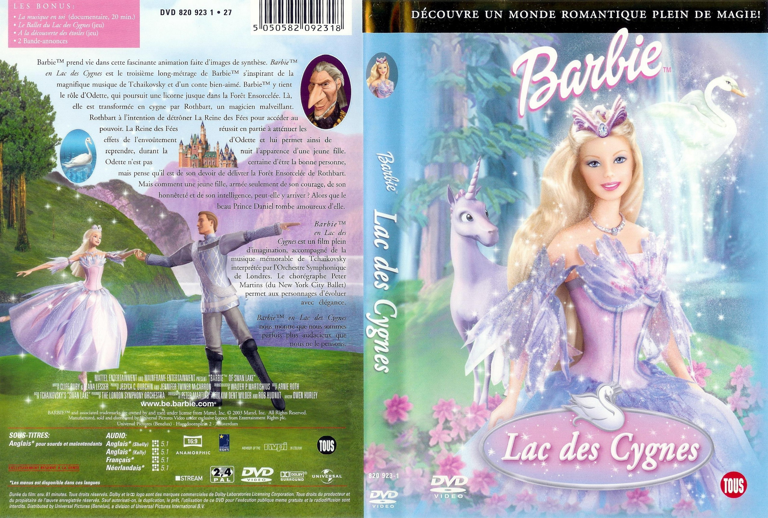 Pin dvd barbie lac des cygnes film on pinterest - Barbie le lac des cygnes ...