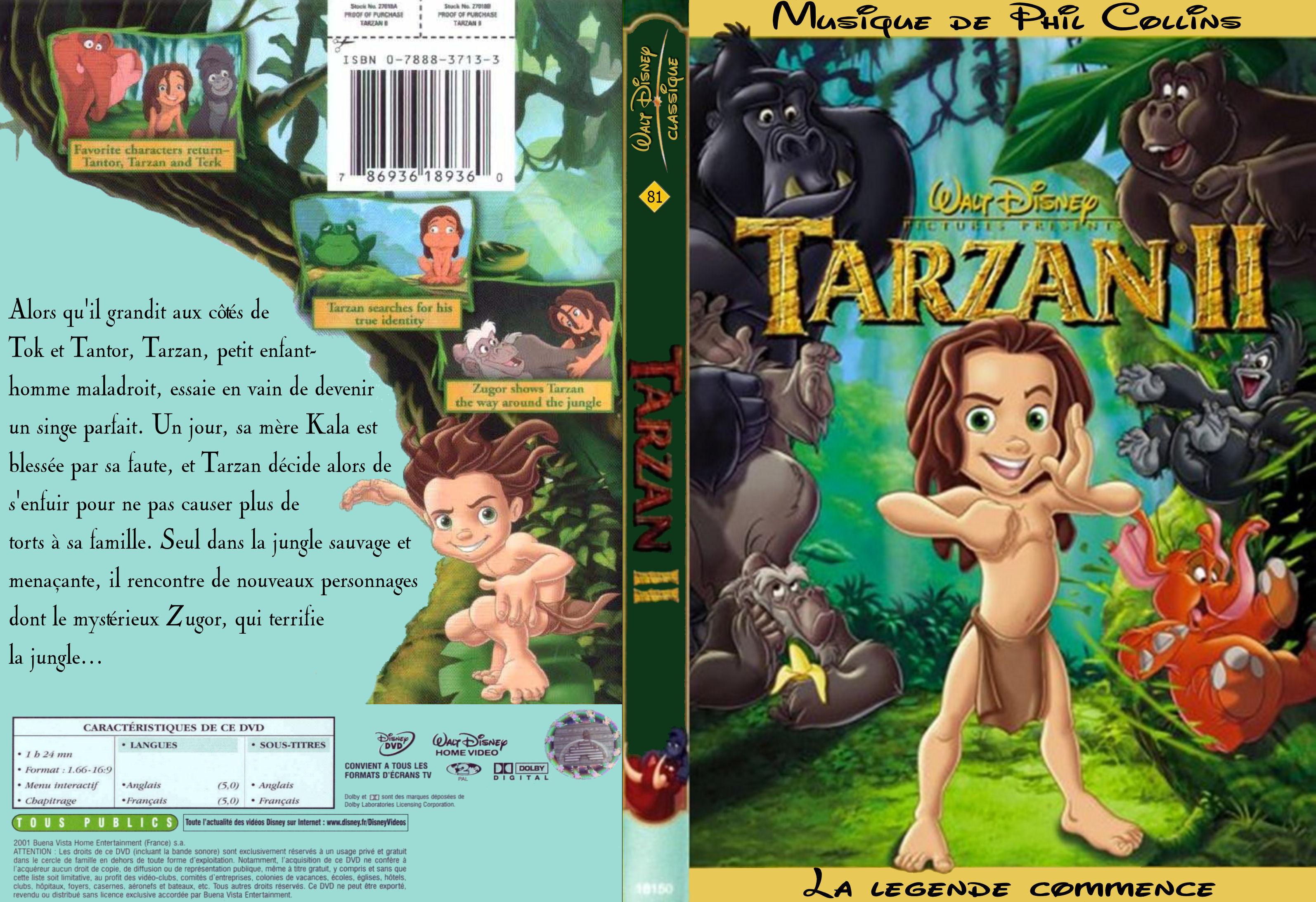 Tarzan 2 Dvd Dvd Cover Tarzan 2