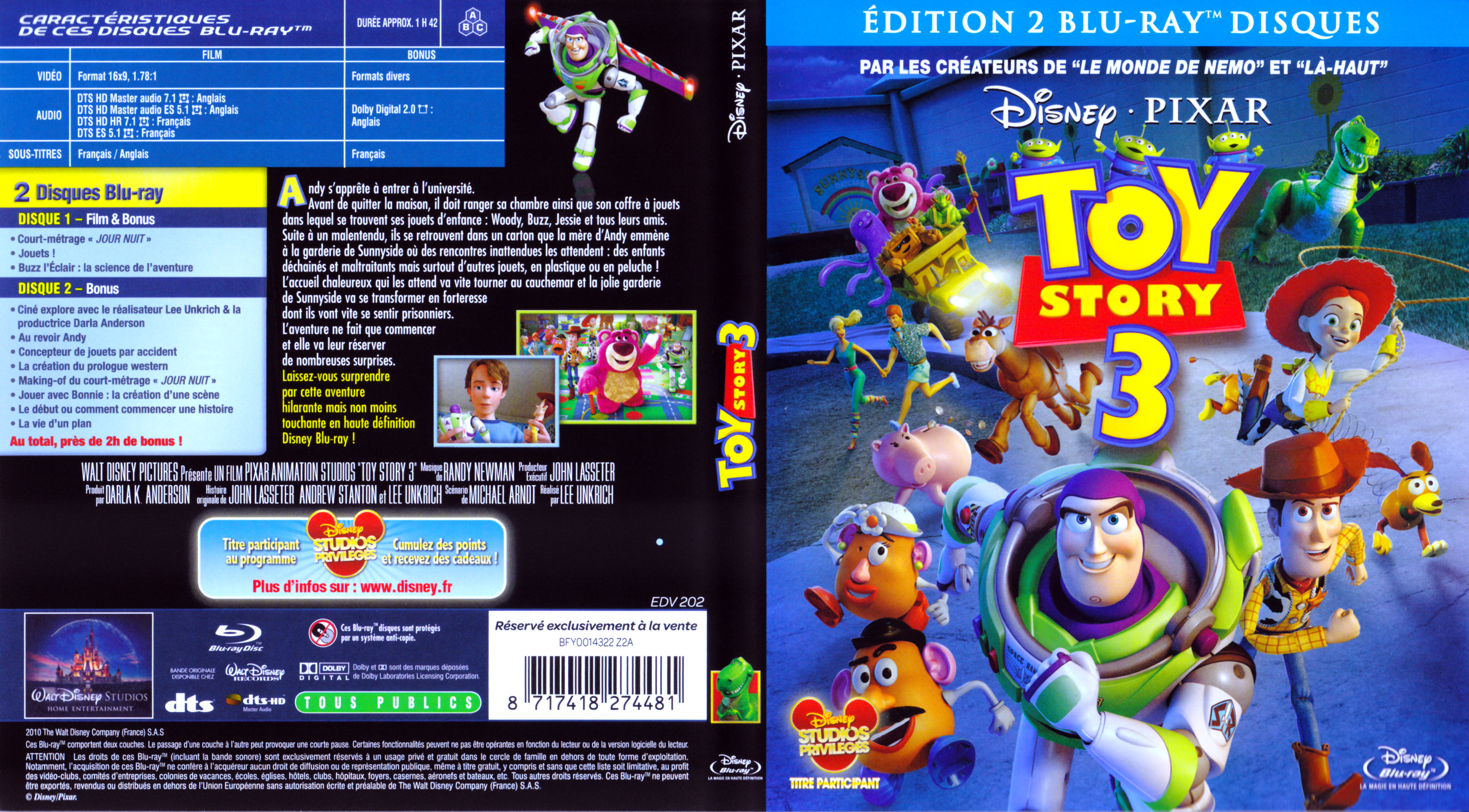 Toy Story 3 Blu Ray Cover